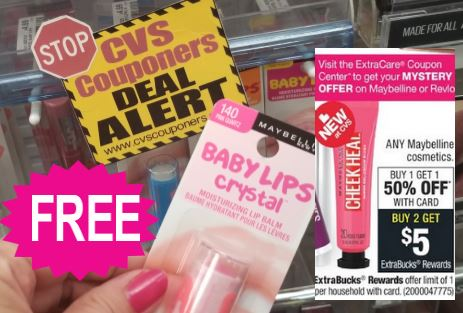 CVS FREE Maybelline Baby Lips Coupon Deal 1-19-1-25