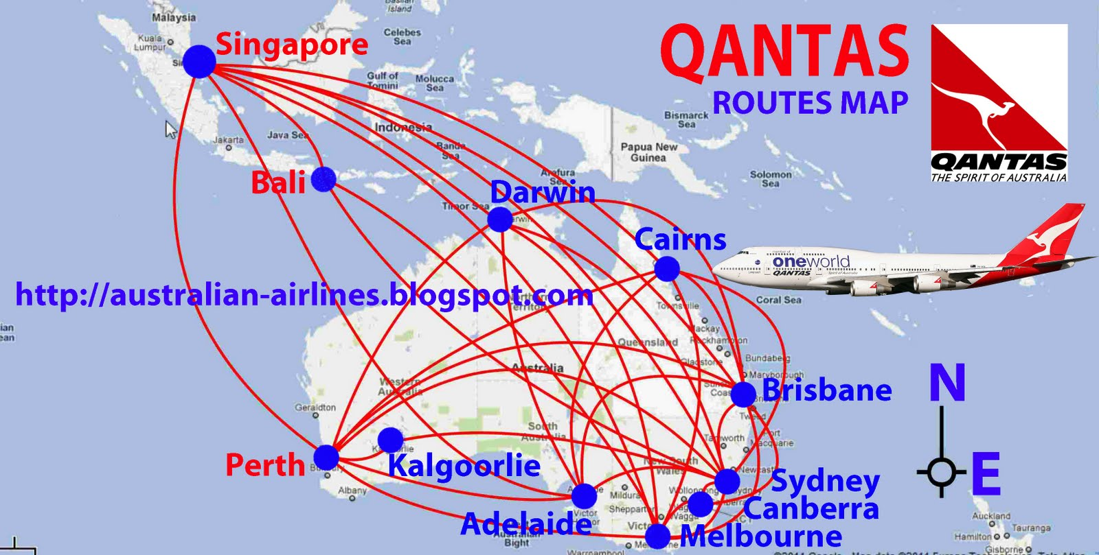 Qantas Flight From Singapore To Australia