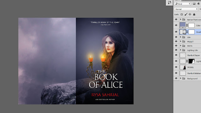 44 Design cover buku Novel dengan Photoshop CC part2