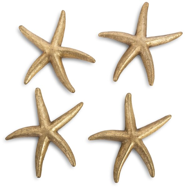 4 Piece Starfish Wall Decor Set 1 of 2