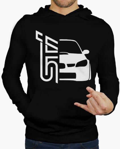 Sudaderas Hombre - Diseño Subaru STI (blanco)
