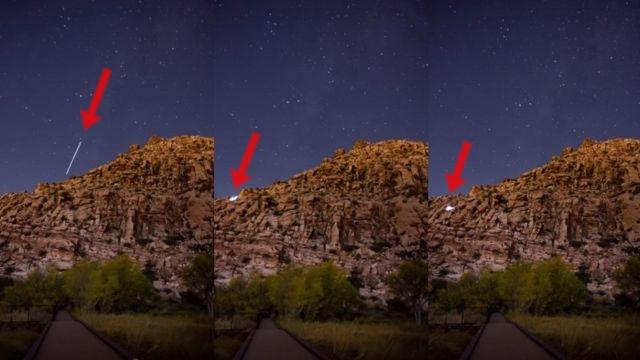 Un extraño rayo de luz aparentemente libera un objeto brillante sobre Red Springs
