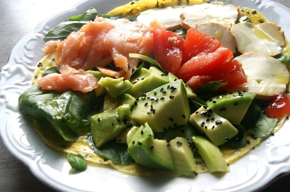 omlet z łososiem i serami - kilka wersji