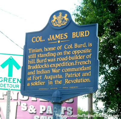 Col. James Burd Historical Marker in Highspire Pennsylvania