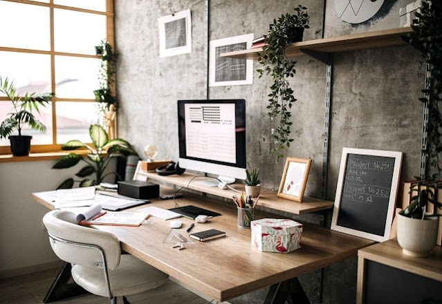 how to set up full-time home office productive workplace