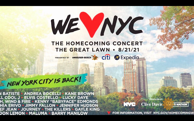 """Clive Davis says """"We Love NYC: The Homecoming Concert"""" will use music to """"symbolize rebirth, revival, recovery"""""""