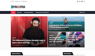 Maxima - Responsive Magazine Blogger Template