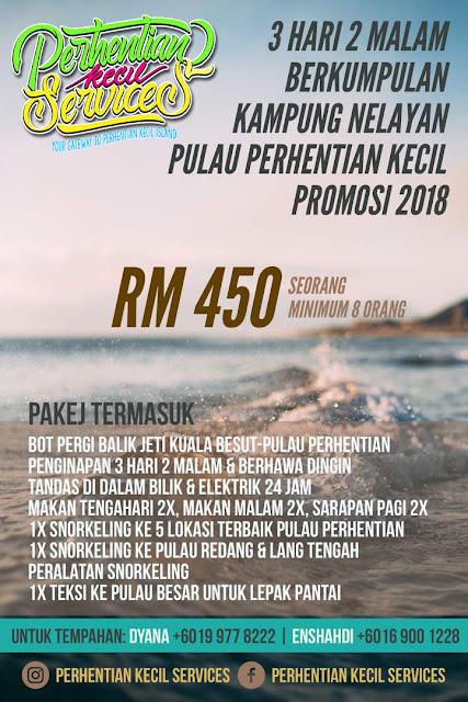 3 hari 2 malam pakej pulau perhentian 2018 , pakej 3 hari 2 malam kampung nelayan perhentian 2019
