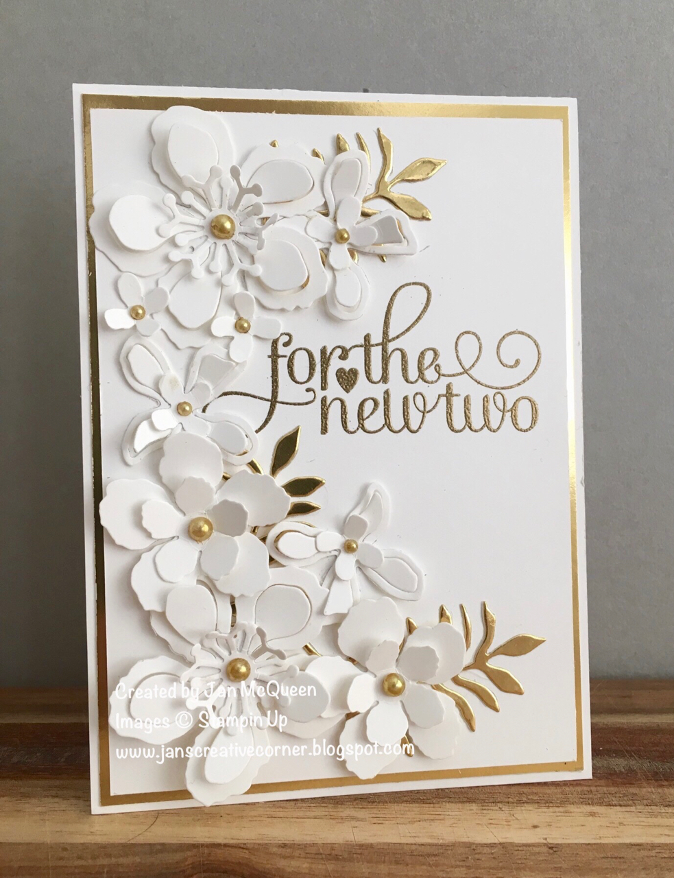 Best Wedding Gift Ideas Australia : Wedding card using Stampin Ups For the New Two and Botanical Builder ...