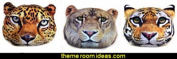 Tiger Animal Print Plush Leopard Animal Print Plush Pillow Lion