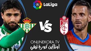 مشاهدة مباراة ريال بيتيس وغرناطة بث مباشر اليوم 10-05-2021 في الدوري الإسباني