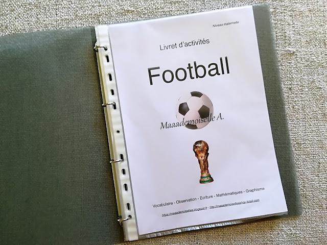 || Nos activités sur le football : Livret d'activités Maaademoiselle A. Shop