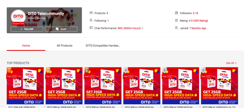 DITO Telecommunity is now on Shopee!