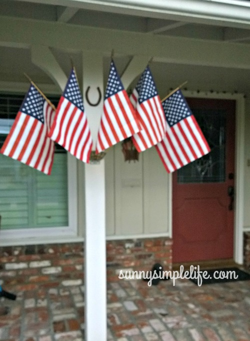 five finger metal flag bracket, five flag holder