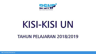 Kisi Kisi Soal Ujian Nasional 2019 SMA SMK PALING LENGKAP! Resmi!