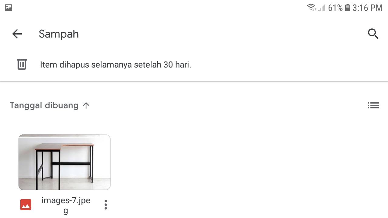 File yang Terhapus dan Masuk di Folder Sampah Google Drive