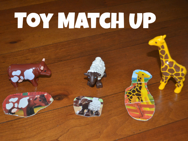 3 games matching up toy animals to cardboard cutouts: The Pleasantest Thing