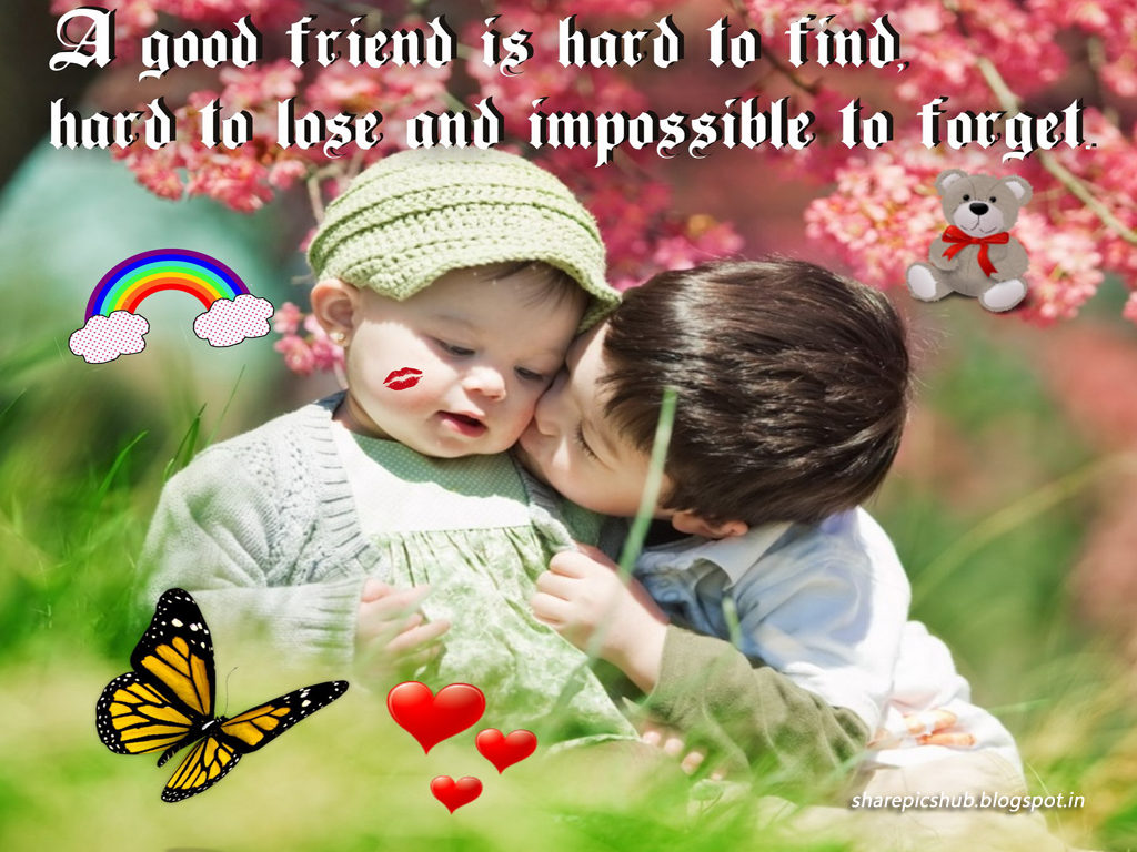 Hard to Find | Cute Kids Friendship Quote Wallpaper For ...