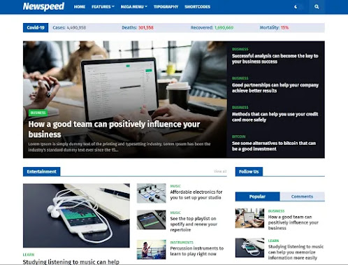 How to download Newspeed premium blogger templates for free; (complete review)
