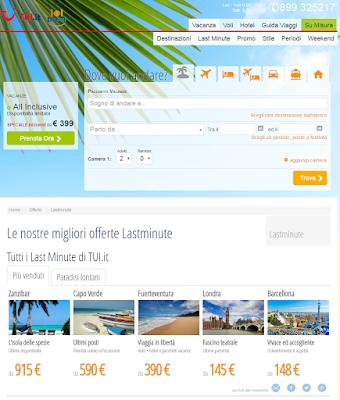 TUI - scegli tra 90mila hotel, 550 voli e low cost, 100mila pacchetti vacanze e molto altro!!!