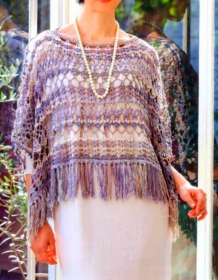 Stylish Easy Crochet: Crochet Pattern Of Poncho - Mexican ...