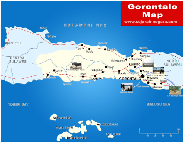 image: Gorontalo Map High Resolution