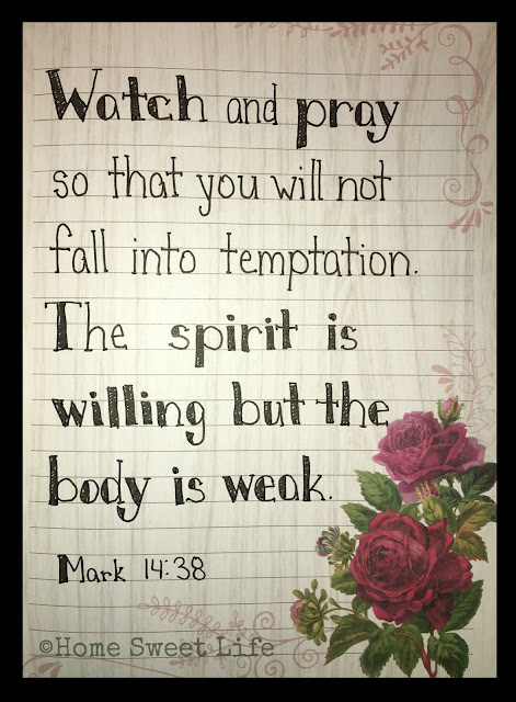 Scripture Writing, hand lettering, Mark 14:38