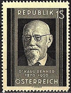 Austria - Karl Renner  1951