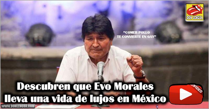 Descubren que Evo Morales lleva una vida de lujos en México