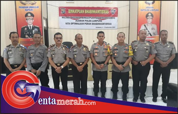 Gelar Binkatpuan Polda Lampung, Kapolres Lampura : Bhabinkamtibmas Adalah Ujung Tombak Kepolisian