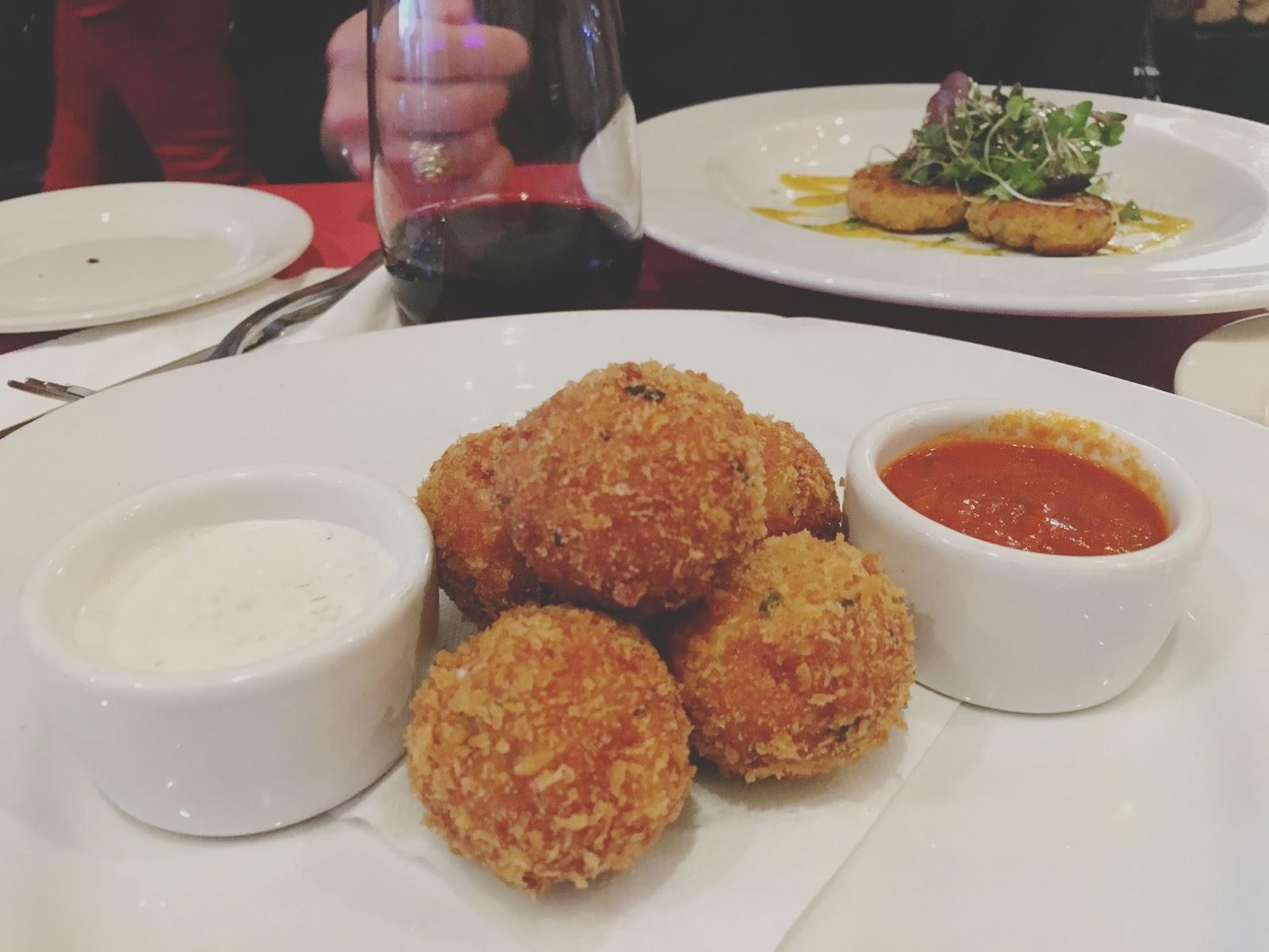 fried mozzarella balls at Emmy's Spaghetti Shack - a restaurant in San Francisco, California