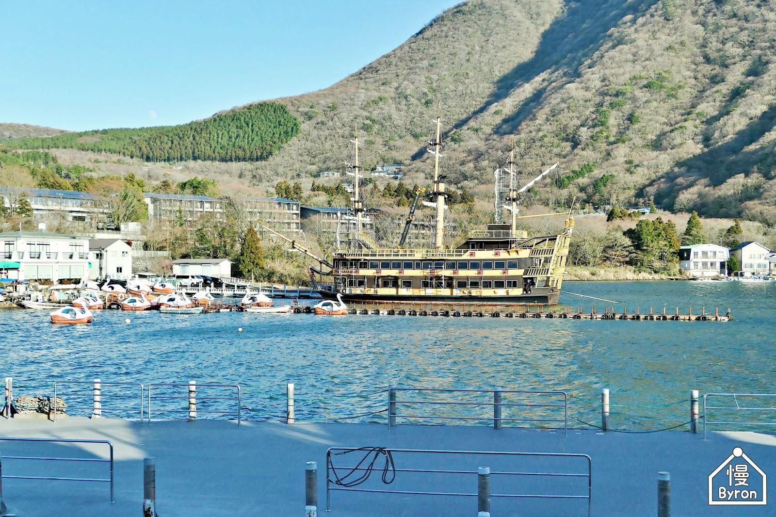 【東京近郊】箱根|女王蘆之湖號|2019年新啟用金碧輝煌的海賊觀光船 @ 瞌睡慢與Byron的旅行泡泡 :: 痞客邦
