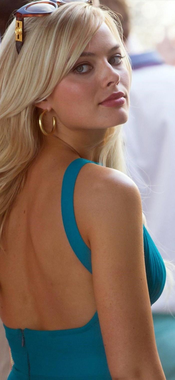 Backless Australian Blonde Model