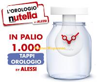 Logo ''Nutella Clock'' : vinci 1.000 tappi orologio by Alessi