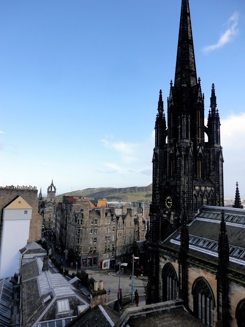 The Royal Mile, with Th Hub / Tolbooth Kirk, Edinburgh