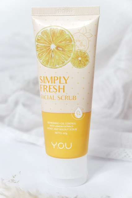 Y.O.U Simply Fresh Facial Scrub Review, Face scrub, face scrub lokal, skin care, You Cosmetics, Y.O.U Skincare