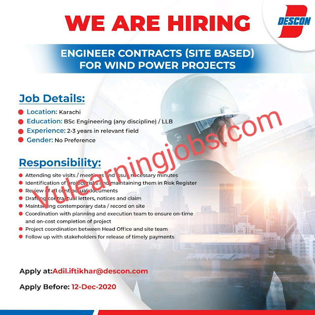 Descon Jobs 2020 In Pakistan For Engineers, Lead Contract Latest