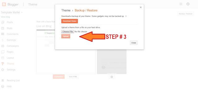 Blogger Theme Upload