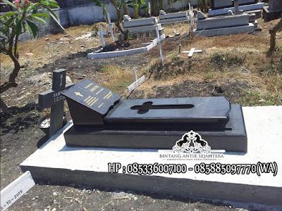 Makam Batu Granit, Model Kuburan Kristen Minimalis, Makam Granit Kristen