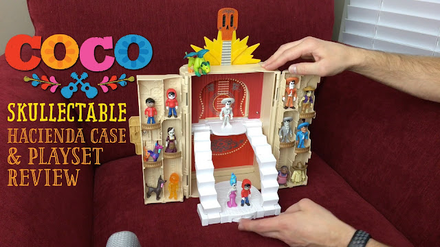 Pixar Coco Skullectables Hacienda case with figures