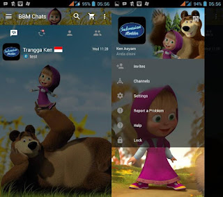 BBM MOD Masha And The Bear