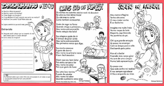 Atividades lúdicas prontas para imprimir e disponível para download em PDF, para trabalhar interpretação e produção de texto com alunos das series iniciais.