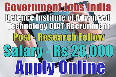 DIAT Recruitment 2018