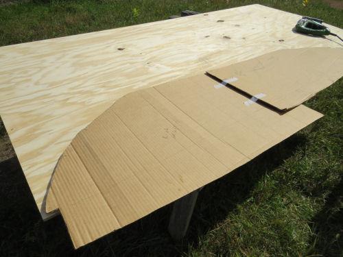 template an upper storage bin in a fiberglass trailer