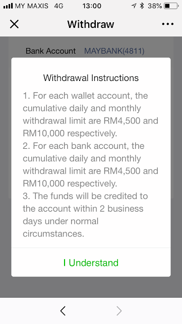 WeChat Pay: withdraw instructions