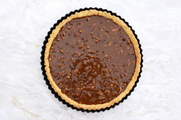 Pecan Pie before baking from Walking on Sunshine Recipes