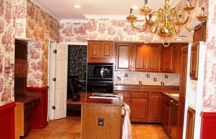 vintage tarzı mutfak duvar kağıdı modelleri