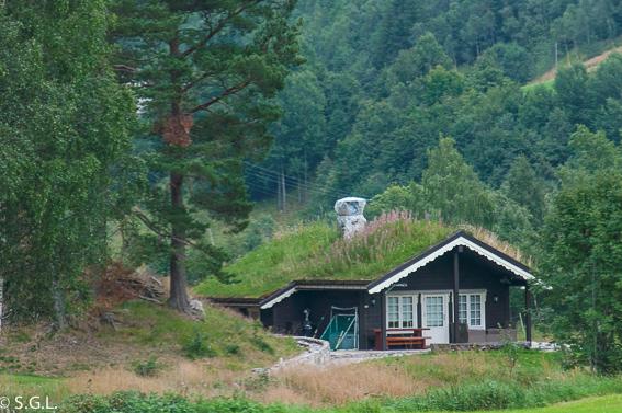Casita techo de cesped. Noruega