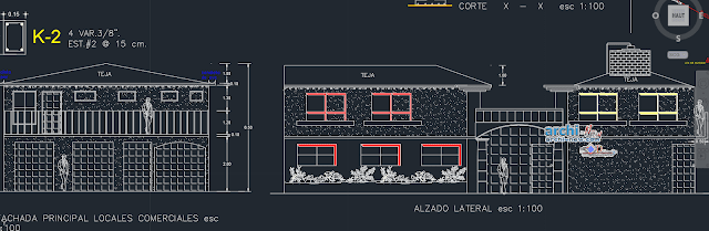 House 2 floors story  in AutoCAD