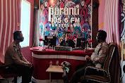 Talkshow di Radio Paranti FM, Satlantas Polres Pandeglang Sosialisasikan Kamseltibcarlantas di Masa Pandemi